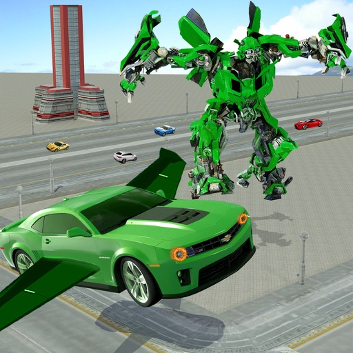 Real Robot Fighting Vs Flying Car Games By Evolution Game 3d Simulator
