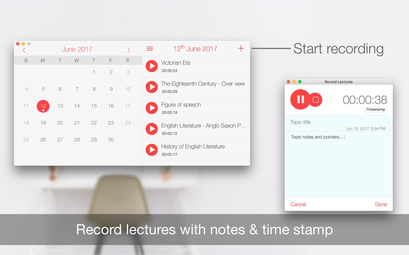 Record Lectures Screenshots