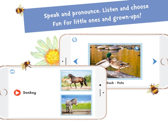 Screenshot #5 for Sami Tiny FlashCards Animals 6 languages kids apps
