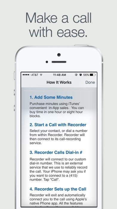 Recorder review screenshots