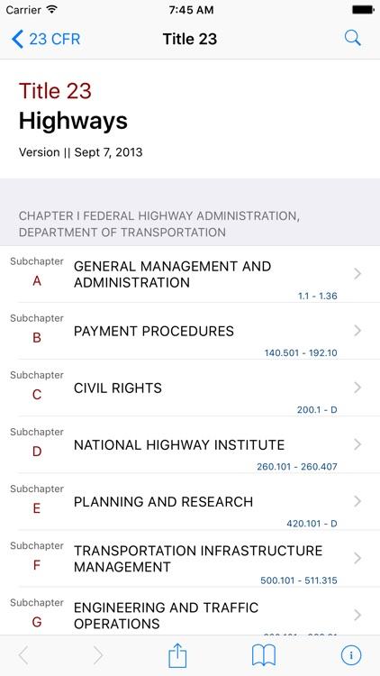 23 CFR - Highways (LawStack Series)