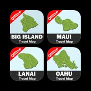 HAWAII ISLANDS Travel Map Bundle