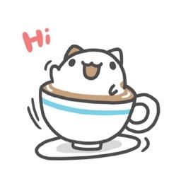 Foam Capoo Cat Sticker