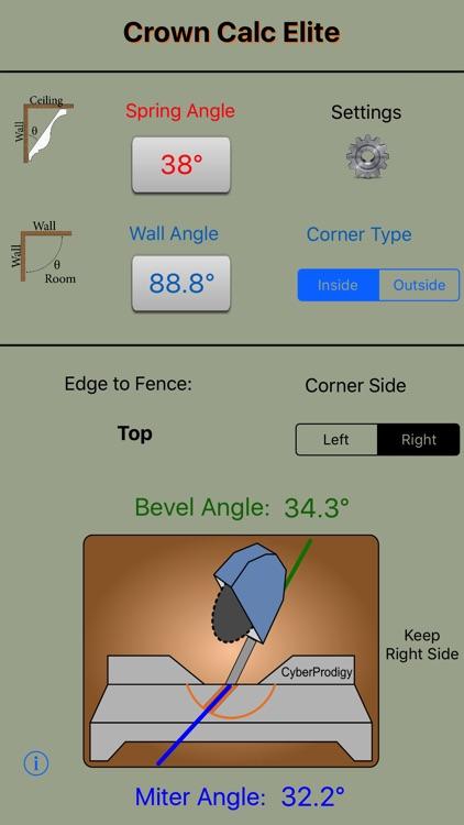 Crown Calc Elite - Crown Molding Calculator screenshot-4