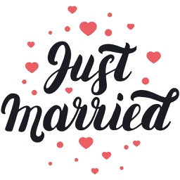 Just Married Wedding Planner Sticker Pack