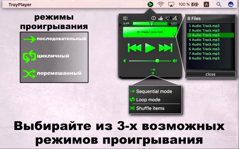 Tray Player / Простой МП3 Плеер скриншот программы 4