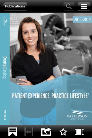 Screenshot of Patterson Dental Digital Publications