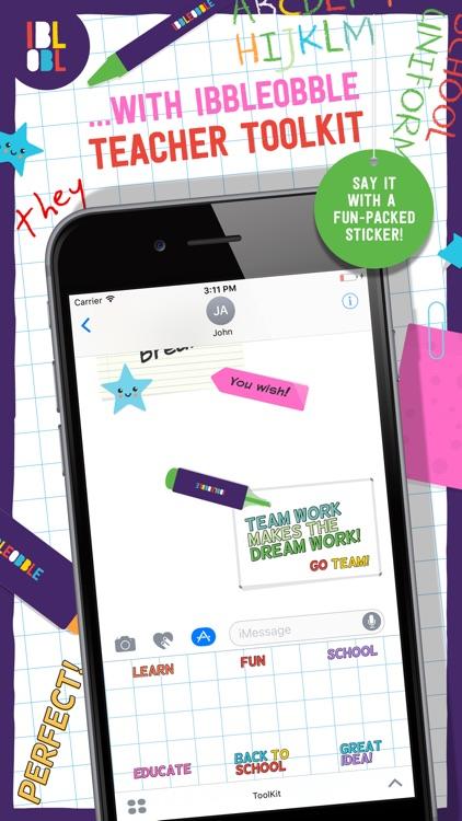 Ibbleobble Teacher Toolkit Stickers for iMessage screenshot-3
