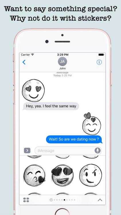 Handdrawn Emojis & Smileys For iMessage
