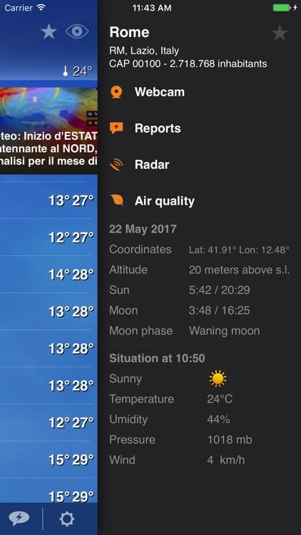 Meteo Plus - Weather powered by iLMeteo.it screenshot-3