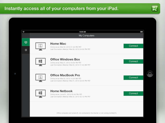 Instant access to your files, programs and network.