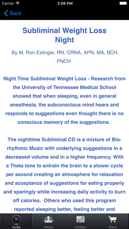 Subliminal Weight Loss Night for iPhone screenshot-4