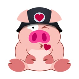 Cute Piggy Commando Stickers stickers by CandyASS