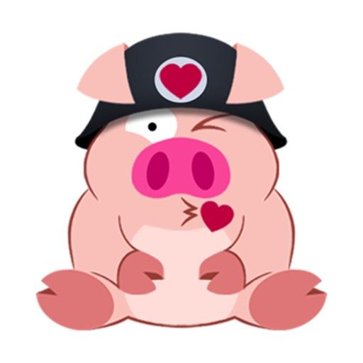Niedliche Piggy Kommando Aufkleber-Sticker