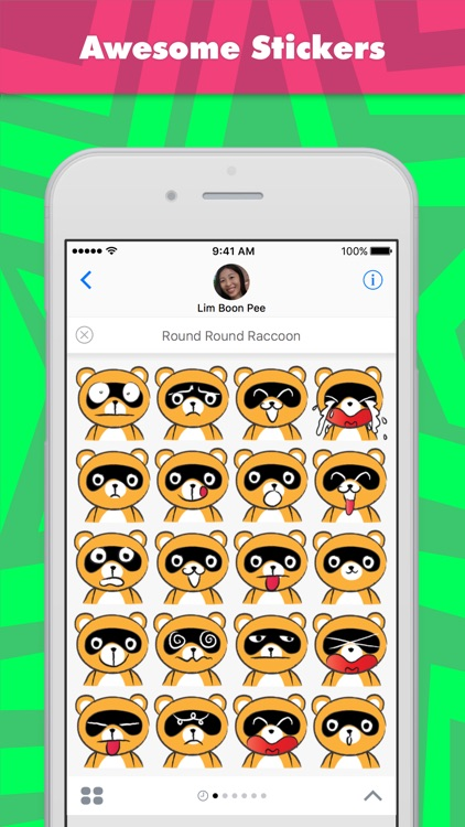 Round Round Raccoon stickers by wenpei