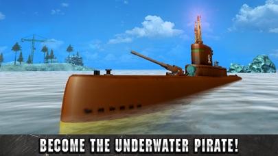 Underwater Pirate Submarine Simulator 3D screenshot one