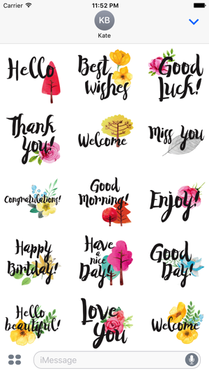 Animated Everyday Greetings Stickers Screenshot