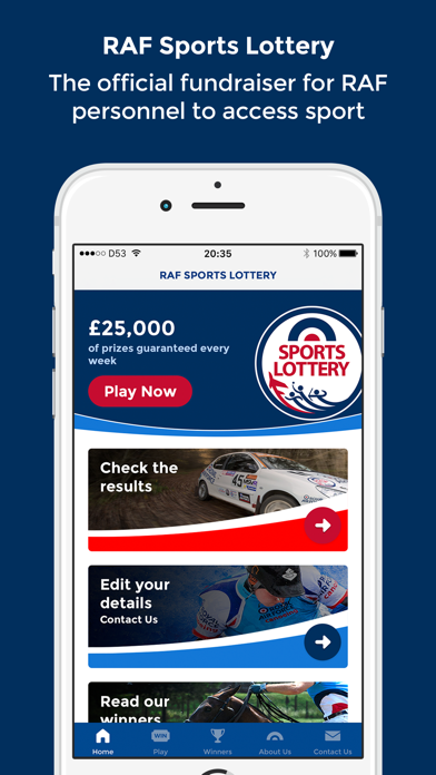 RAF Sports Lottery - Play Now