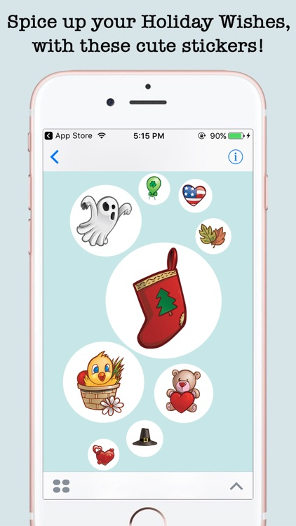 Animated Holidays Sticker Pack For iMessage screenshot-4
