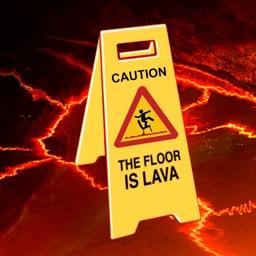 The floor is lava game challenge
