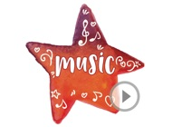 Watercolor Music Quotes Animated Sticker