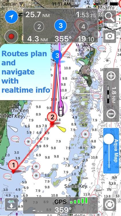 Aqua Map Maine ME Lakes - GPS Nautical Charts