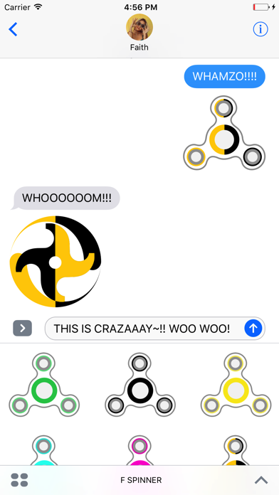 Fidget Spinner: Stickers and Emoji Keyboard screenshot one