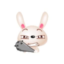 Sweetie Crazy Rabbit Sticker