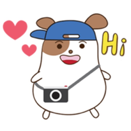Chubby Hamster Sticker