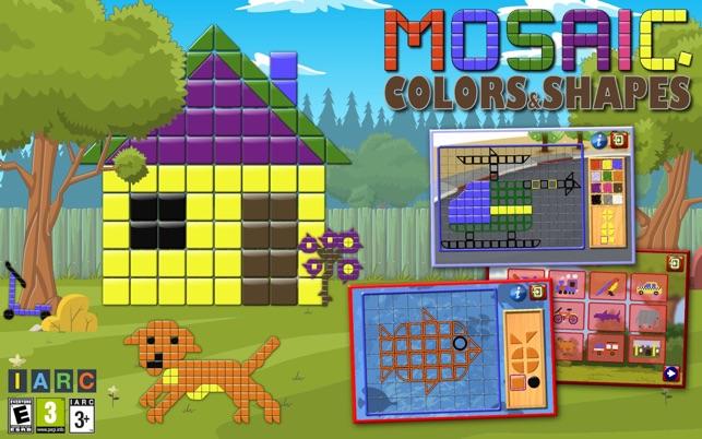 Kinder Mosaik Kunst Form und Farbe-Bilderrätsel Screenshot