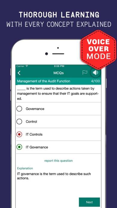CISA Tutor - Exam Kit, Flashcards & Question Bank Screenshot on iOS