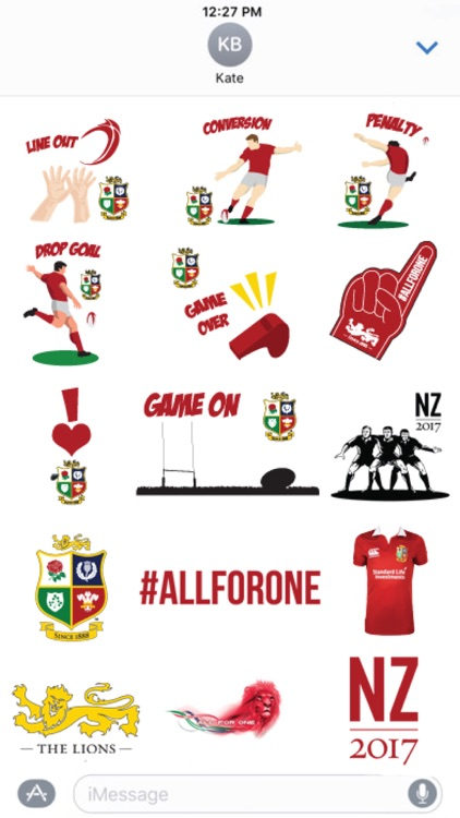 Official Lions Sticker pack