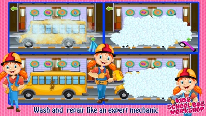 School Bus Wash And Repair - kids Game screenshot three