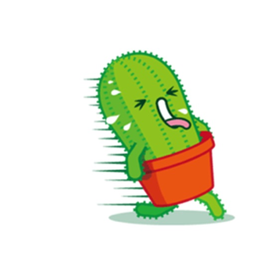 Funny Cactus Emoji Sticker