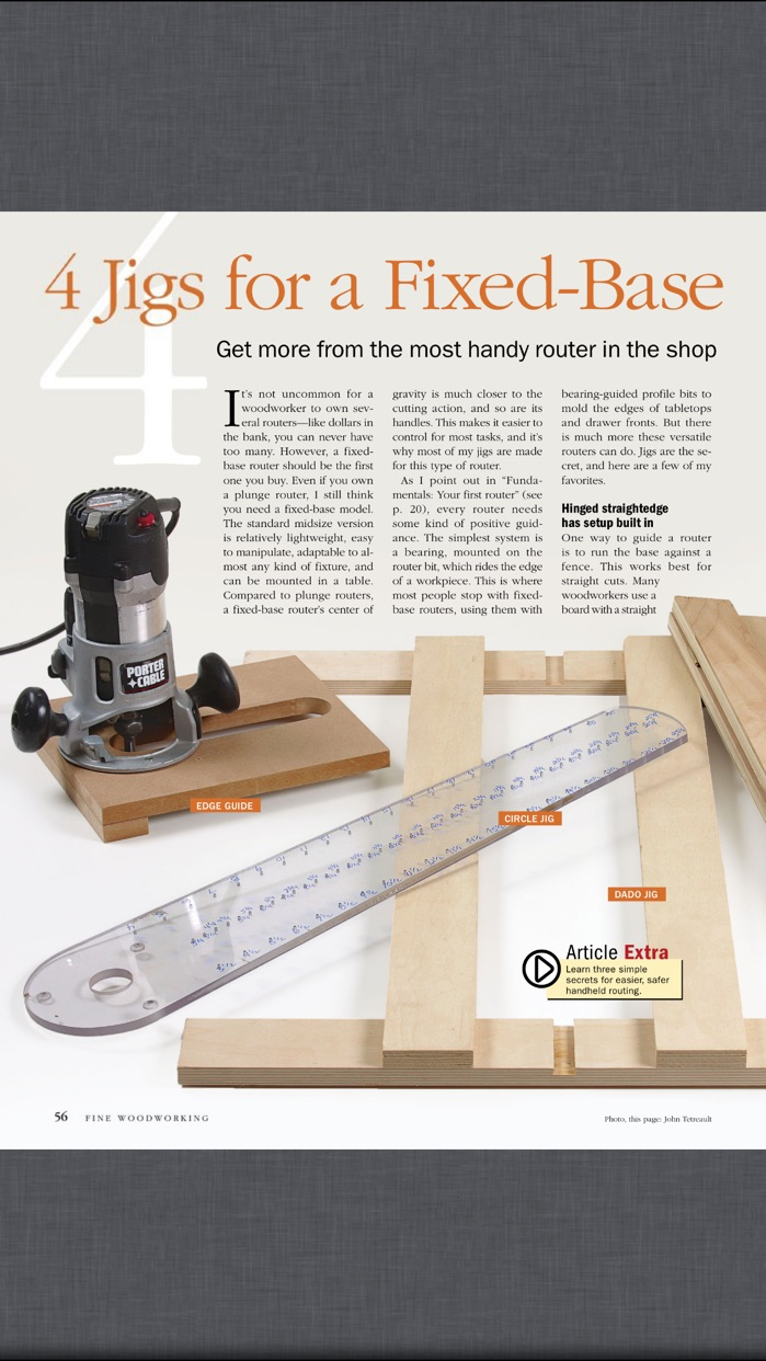 Fine Woodworking Magazine Screenshot