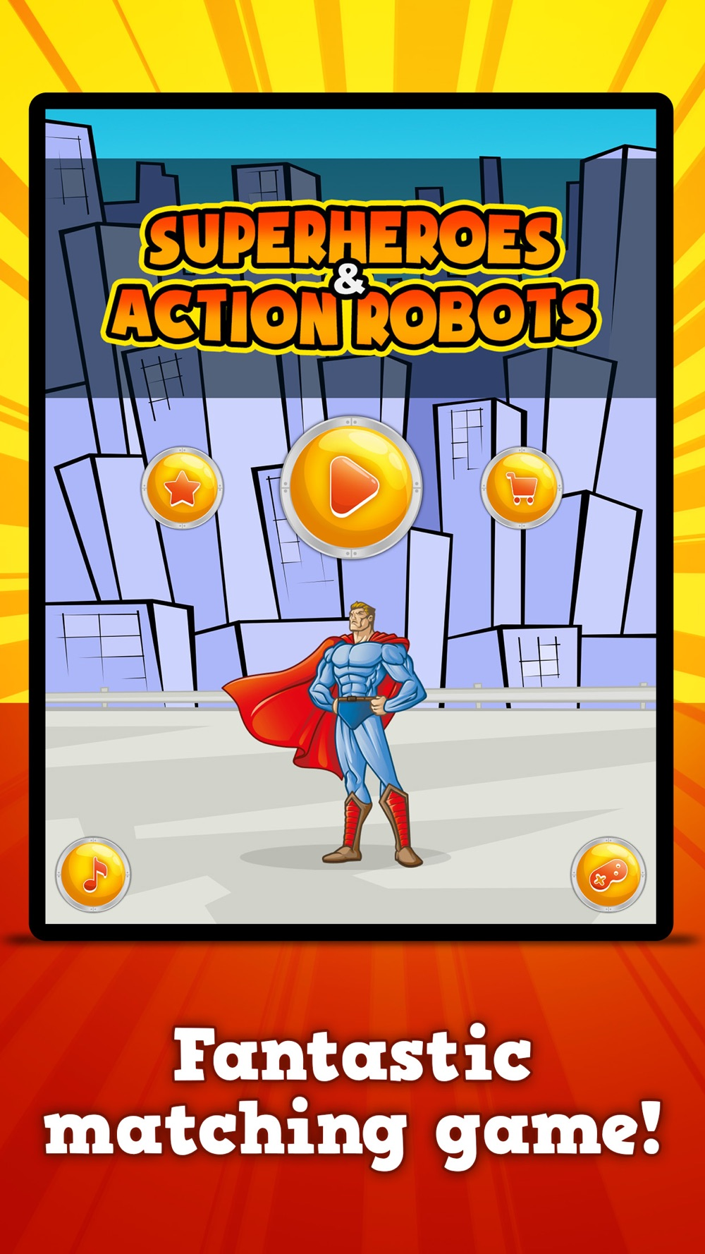 Superheroes & Action Robots : Matching Games Cheat Codes