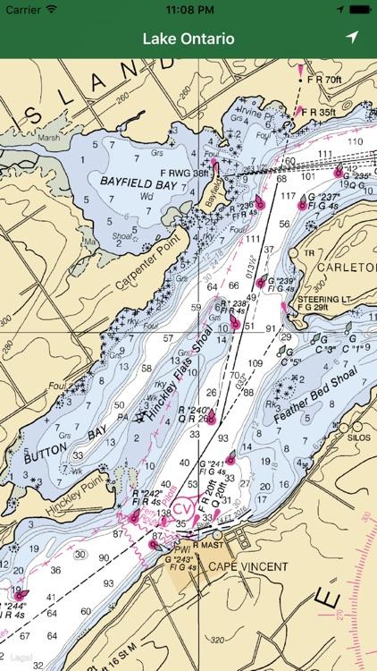 Marine: Lake Ontario offline GPS nautical charts