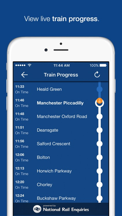 myTrains train times and tickets