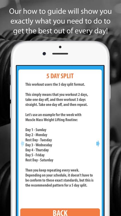 Muscle Mass Weight Lifting Routine screenshot-4