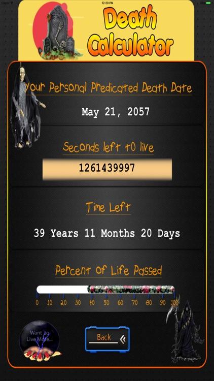 Death Calculator HD screenshot-3