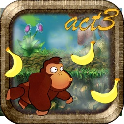 Banana Monkey Jungle Run 3