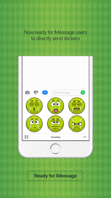 TennisMoji - tennis emoji & stickers keyboard app screenshot-2