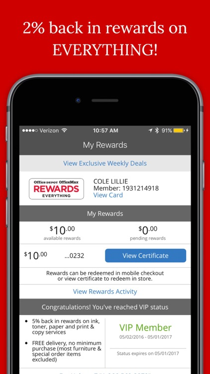 Office Depot - Rewards & Deals screenshot-0