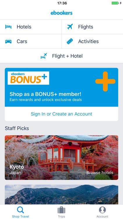 ebookers Hotel, Flight, Car