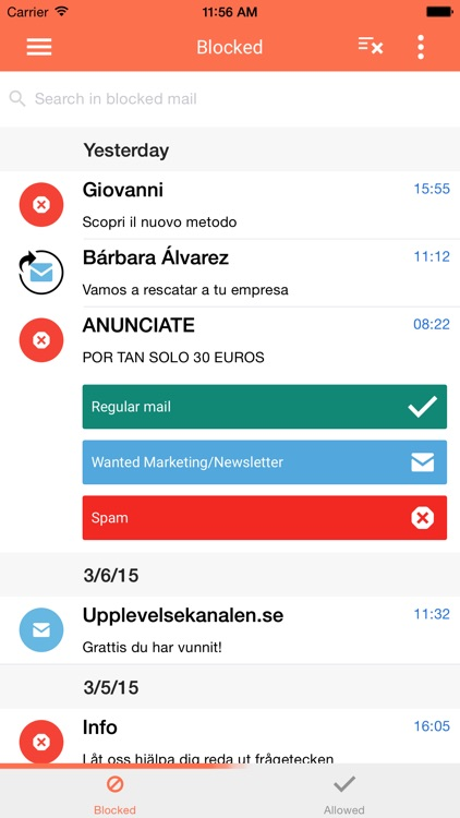 SpamDrain email spam filter
