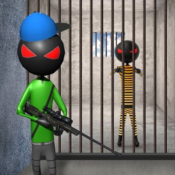 Stickman Crime City Sniper- Gangster Prison Escape