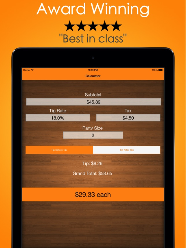 Tip Calculator Tipping Guide On The App Store