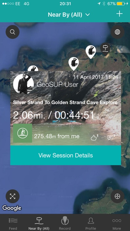 GeoSUP Stand up Paddleboarding App
