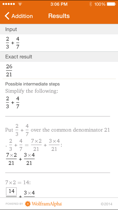 Wolfram Fractions Reference App screenshot two