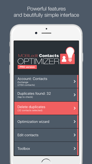 Contacts Optimizer Pro screenshot